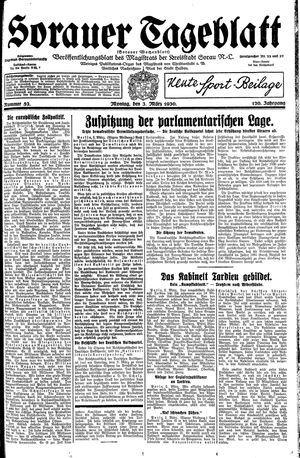 Sorauer Tageblatt vom 03.03.1930