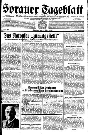 Sorauer Tageblatt vom 04.03.1930