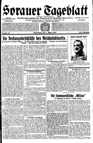 Sorauer Tageblatt vom 06.03.1930