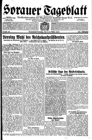 Sorauer Tageblatt vom 08.03.1930