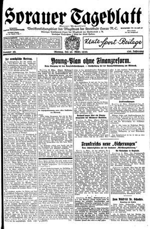 Sorauer Tageblatt vom 10.03.1930