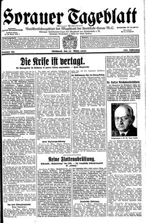 Sorauer Tageblatt vom 12.03.1930