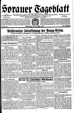 Sorauer Tageblatt vom 13.03.1930