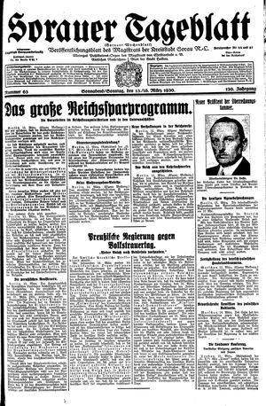 Sorauer Tageblatt vom 15.03.1930