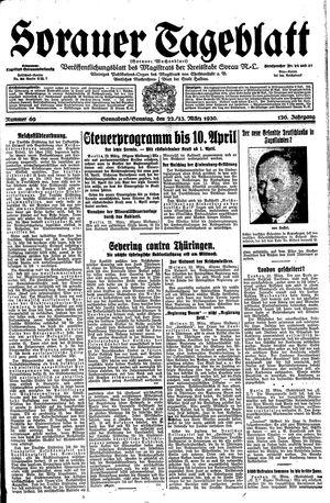 Sorauer Tageblatt vom 22.03.1930