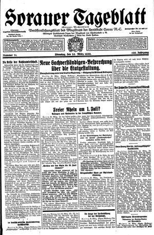 Sorauer Tageblatt vom 25.03.1930