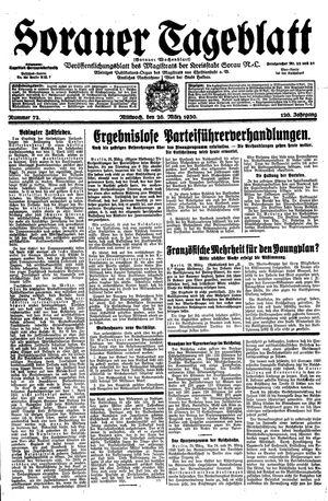 Sorauer Tageblatt vom 26.03.1930