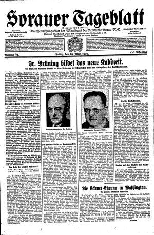 Sorauer Tageblatt vom 28.03.1930