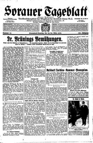 Sorauer Tageblatt vom 29.03.1930