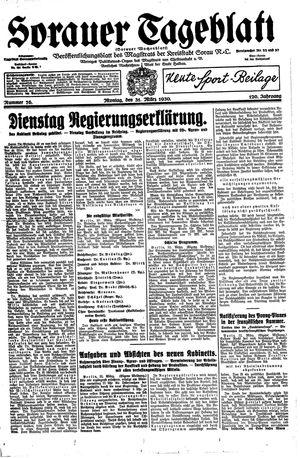 Sorauer Tageblatt vom 31.03.1930