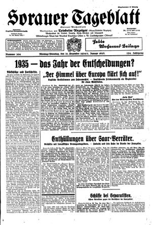 Sorauer Tageblatt vom 31.12.1934