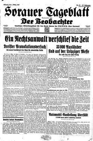 Sorauer Tageblatt vom 01.03.1937