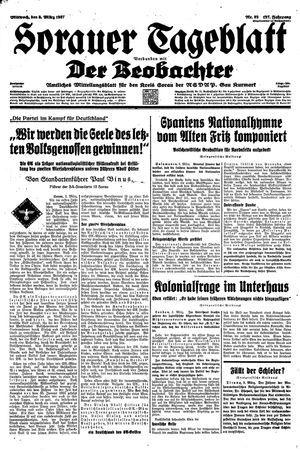 Sorauer Tageblatt vom 03.03.1937