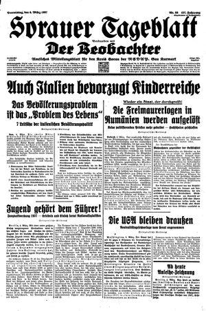Sorauer Tageblatt vom 04.03.1937