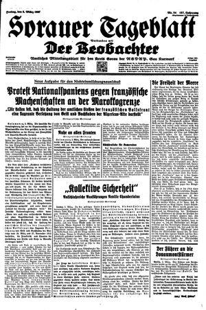 Sorauer Tageblatt vom 05.03.1937