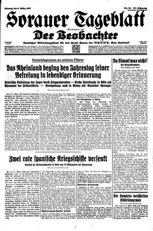 Sorauer Tageblatt vom 08.03.1937