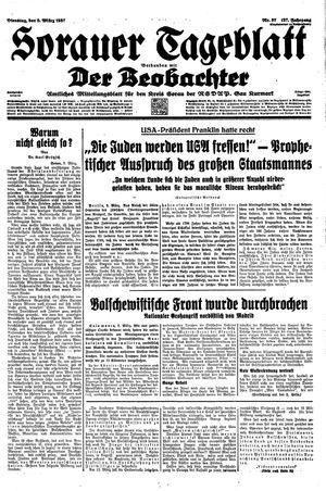 Sorauer Tageblatt vom 09.03.1937