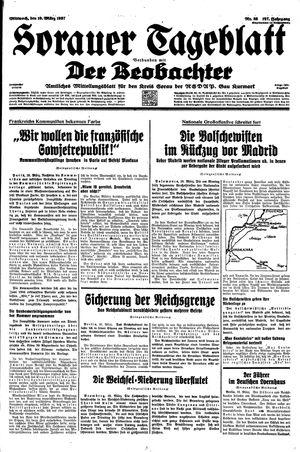 Sorauer Tageblatt vom 10.03.1937