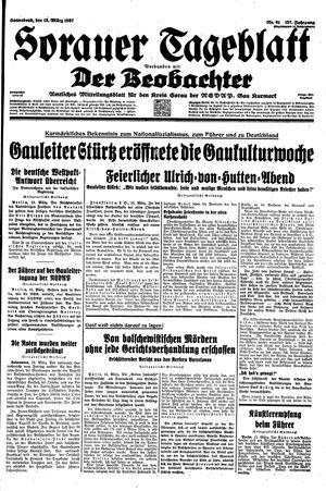 Sorauer Tageblatt vom 13.03.1937