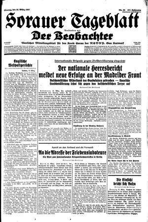 Sorauer Tageblatt vom 15.03.1937