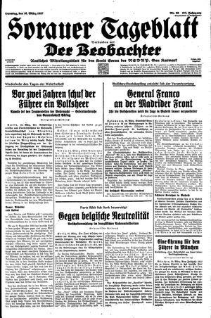 Sorauer Tageblatt vom 16.03.1937