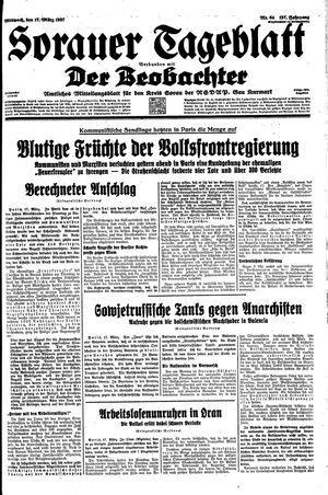 Sorauer Tageblatt vom 17.03.1937
