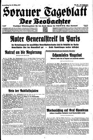 Sorauer Tageblatt vom 18.03.1937