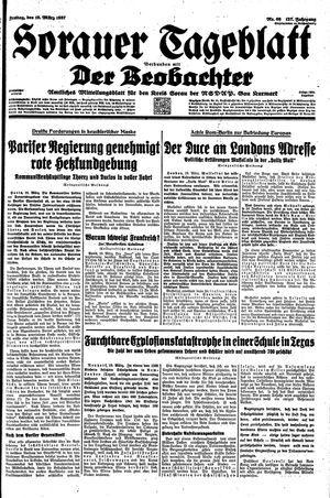 Sorauer Tageblatt vom 19.03.1937