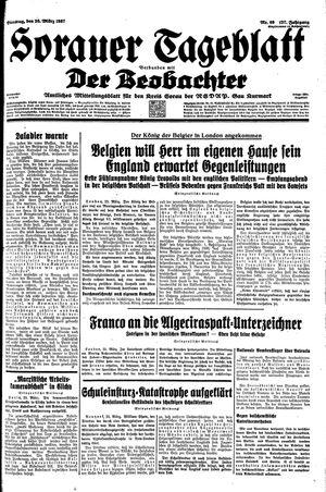 Sorauer Tageblatt vom 23.03.1937