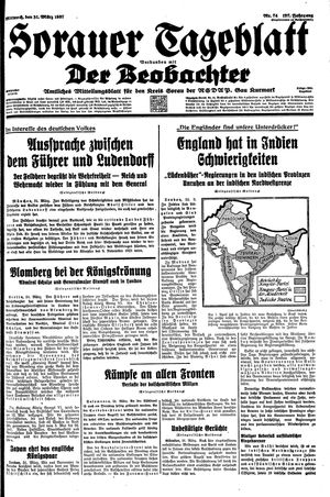 Sorauer Tageblatt vom 31.03.1937