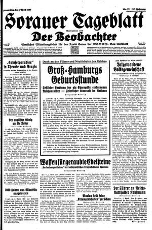 Sorauer Tageblatt vom 01.04.1937
