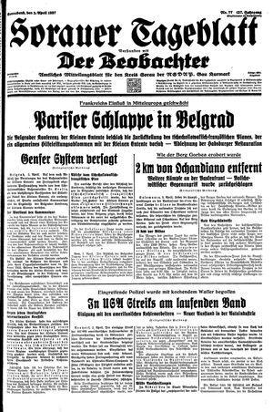 Sorauer Tageblatt vom 03.04.1937