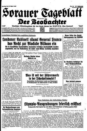 Sorauer Tageblatt vom 12.04.1937