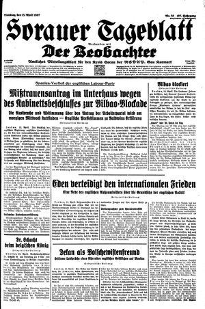 Sorauer Tageblatt on Apr 13, 1937