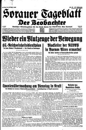 Sorauer Tageblatt vom 16.04.1937
