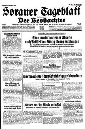 Sorauer Tageblatt vom 23.04.1937