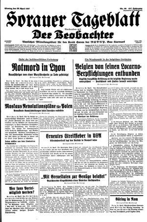 Sorauer Tageblatt on Apr 26, 1937