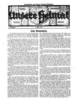 Sorauer Tageblatt vom 01.05.1937