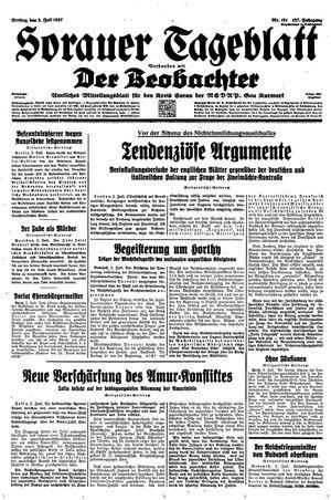 Sorauer Tageblatt vom 02.07.1937