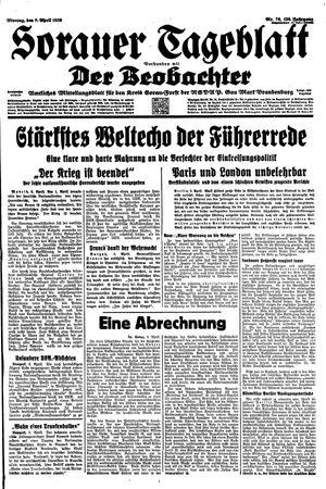 Sorauer Tageblatt vom 03.04.1939
