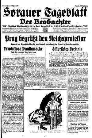 Sorauer Tageblatt vom 05.04.1939