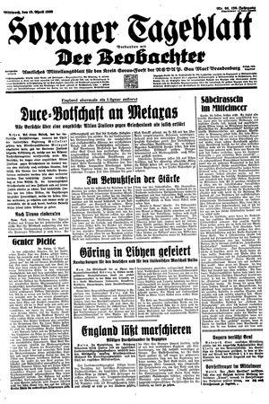 Sorauer Tageblatt on Apr 12, 1939