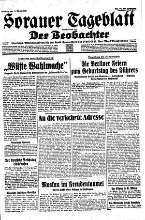 Sorauer Tageblatt vom 17.04.1939