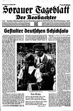 Sorauer Tageblatt on Apr 19, 1939