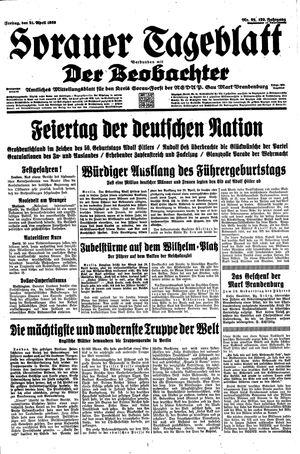 Sorauer Tageblatt vom 21.04.1939