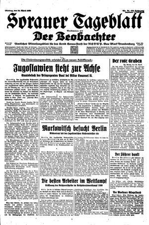 Sorauer Tageblatt vom 24.04.1939