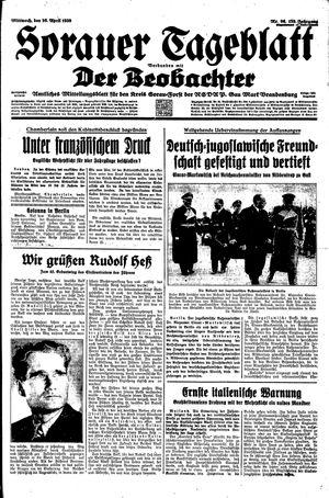 Sorauer Tageblatt vom 26.04.1939