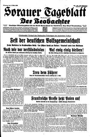 Sorauer Tageblatt vom 02.05.1939
