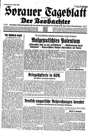 Sorauer Tageblatt vom 03.05.1939