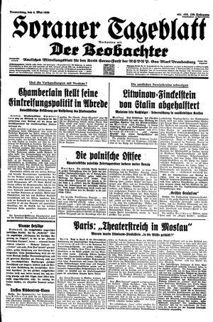 Sorauer Tageblatt on May 4, 1939